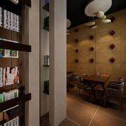 都市咖啡馆吧台效果图