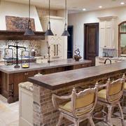 美式简约厨房吧台设计