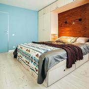 公寓卧室床头背景墙