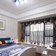美式大型简约卧室窗户装修