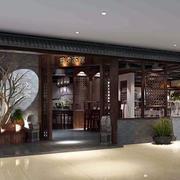 中式面馆外观图