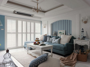 50平米一居室小户型温暖明亮的装修设计图