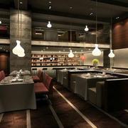 美式西餐厅创意灯饰装饰