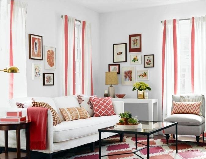 大胆用色:令人惊艳的小户型客厅装修效果图