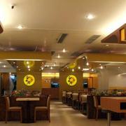 中式快餐店简约吊顶设计