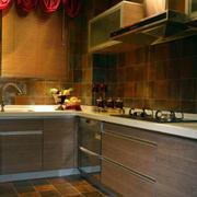 东南亚L型厨房装饰