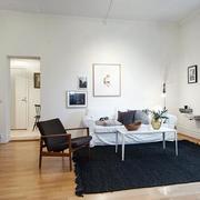 简约风格深色客厅地毯