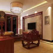 中式原木客厅家庭装饰