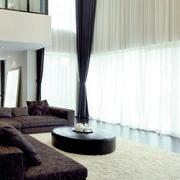 后现代别墅白色窗帘装饰