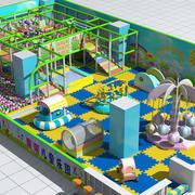 儿童游乐场3D外观图