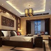 中式古韵卧室背景墙