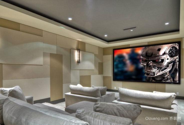 奢华体验:专为别墅设计的家庭影院装修效果图