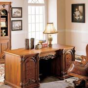 书房欧式原木文件柜设计