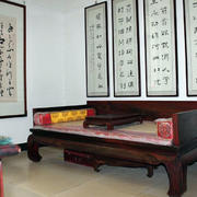 客厅中式床饰效果图