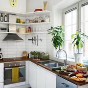 混搭风格厨房置物架装修