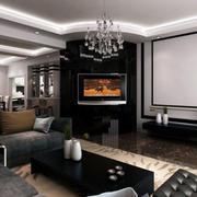 后现代创意客厅电视背景墙