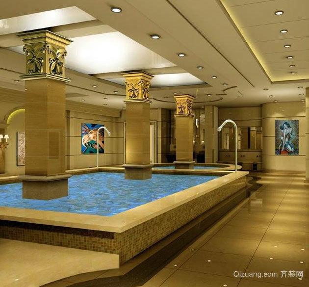 高贵的享受:都市洗浴中心背景墙装修效果图鉴赏大全