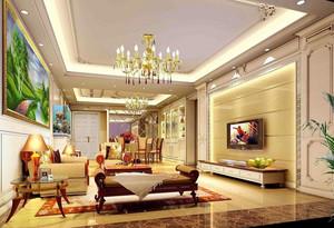 高贵的家装:错层欧式客厅装修效果图欣赏大全