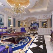 紫色婚房地板搭配