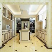 后现代风格白色厨房装修