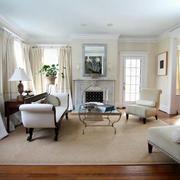 简约风格别墅客厅飘窗设计