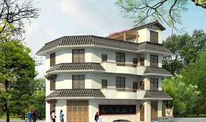 农村高大简朴的楼房装修设计图