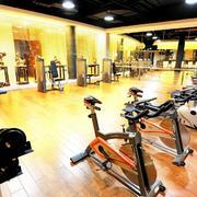 健身房原木地板设计