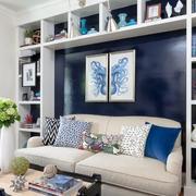 北欧风格客厅置物架设计