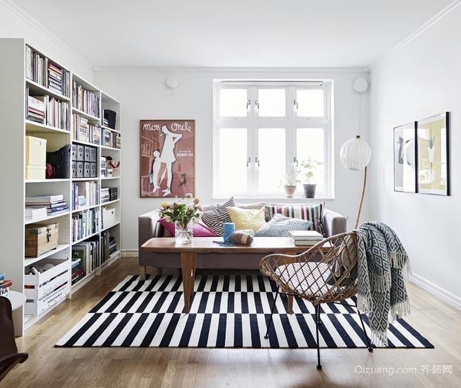 让您眼前一亮的小户型客厅书架装修效果图欣赏