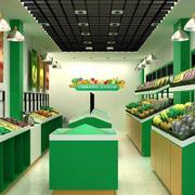 小型水果店货架装饰