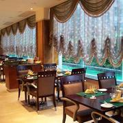 中式西餐厅飘窗装饰