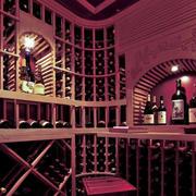 欧式奢华酒窖效果图