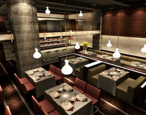 爱的华尔兹:优雅浪漫法式西餐厅装修效果图