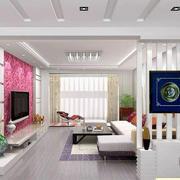 简约纯白色家庭客厅设计