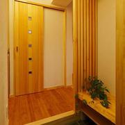 日式原木系玄关装饰
