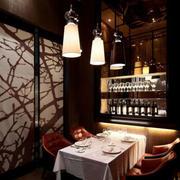 简约风格西餐厅包厢效果图