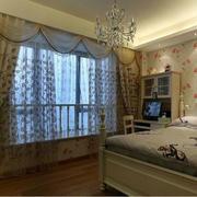 欧式田园风格卧室窗帘