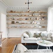 北欧风格客厅置物架