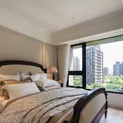 小户型石膏板卧室床头装饰