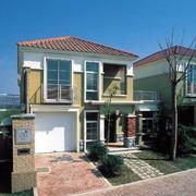 洋房式两层别墅外观图