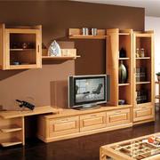 简约木制电视柜装修