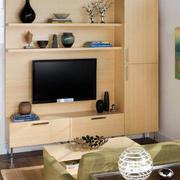后现代风格原木色电视柜