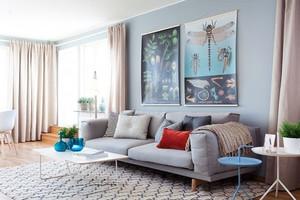 90平米房屋客厅沙发装修