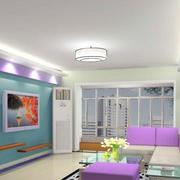 后现代紫色家庭客厅装饰