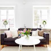 北欧风格客厅皮制沙发设计