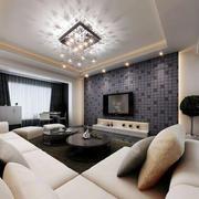 后现代风格深色背景墙设计