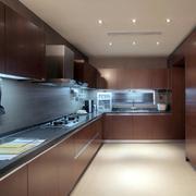 别墅大型L型厨房设计