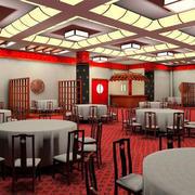 餐厅圆形桌椅装修