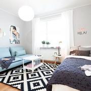 90平米房屋沙发背景墙设计