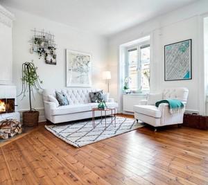 2015清新果绿色的小户型客厅装修效果图